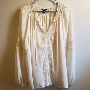 Chaps Flowy Ivory Top